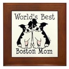 World's Best Boston Mom Framed Tile