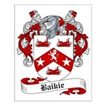Baikie Family Crest Small Poster