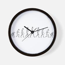 Evolution of Man Wall Clock