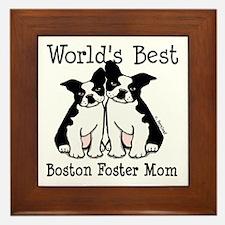 World's Best Boston Foster Mom Framed Tile