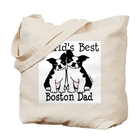 World's Best Boston Dad Tote Bag