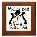 Boston terrier dad Framed Tiles