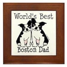 World's Best Boston Dad Framed Tile