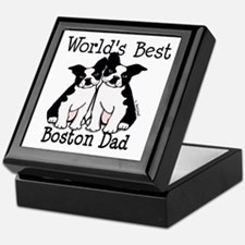 World's Best Boston Dad Keepsake Box