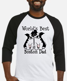 World's Best Boston Dad Baseball Jersey
