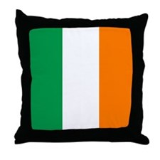 Irish flag of Ireland Throw Pillow