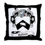 Balfour Family Crest Throw Pillow