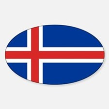 Flag of Iceland Sticker (Oval)