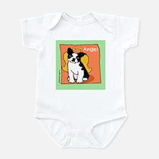 Boston Terrier Angel Pet Memorial Infant Bodysuit