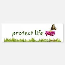 Protect Life Butterfly Bumper Bumper Bumper Sticker