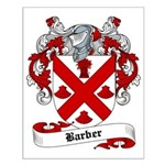 Barber Family Crest Small Poster