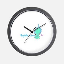 Squidie Love Wall Clock