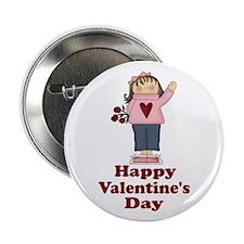 """Valentine Girl 2.25"""" Button"""