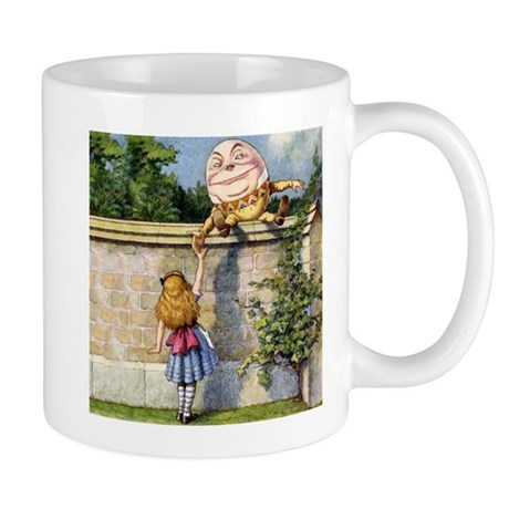Alice Meets Humpty Dumpty SQ Mug