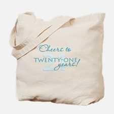 Cheers to 21 Tote Bag