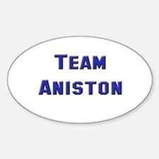 Team Aniston Oval Decal