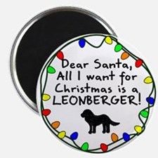 Dear Santa Leonberger Christmas Magnet