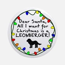 Dear Santa Leonberger Christmas Ornament