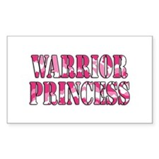 Warrior Princess Rectangle Sticker 10 pk)
