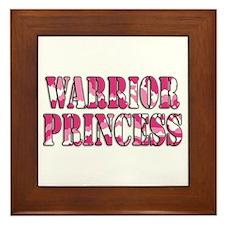 Warrior Princess Framed Tile