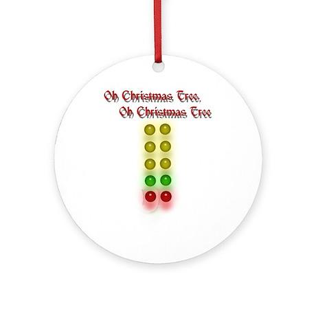 Drag Race Christmas Tree Ornament (Round)