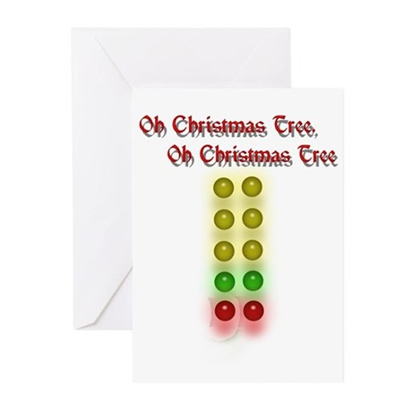 Drag Race Christmas Tree Greeting Cards (Pk of 10)
