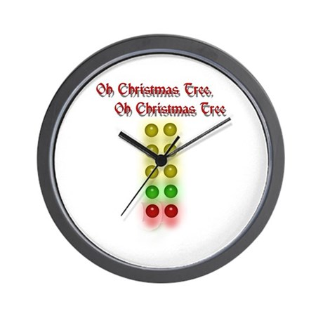 Drag Race Christmas Tree Wall Clock