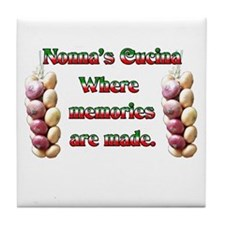 Nonna's (Italian Grandmother) Cucina Tile Coaster