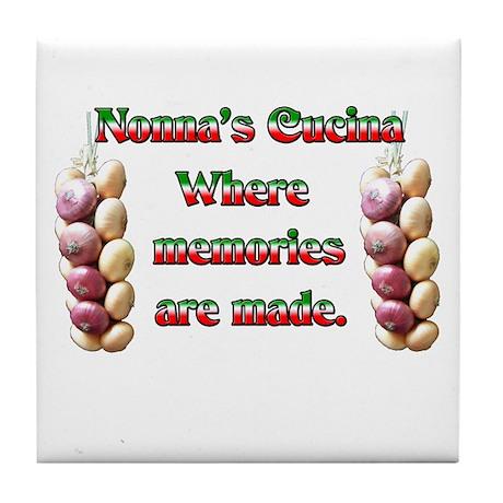 Nonna's (Italian Grandmother) Cucina Tile Coaster