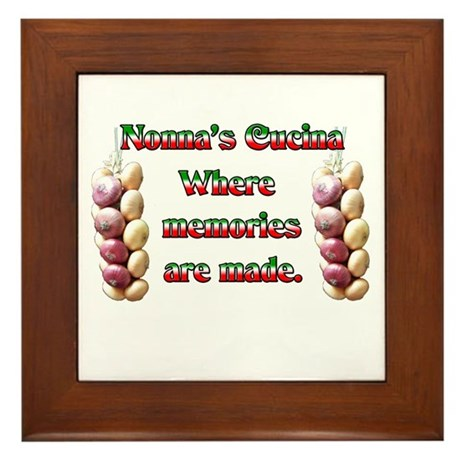 Nonna's (Italian Grandmother) Cucina Framed Tile