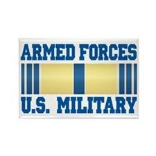 Armed Forces Service Ribbon Rectangle Magnet