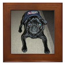 Pugs for Obama Framed Tile