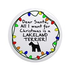 Dear Santa Lakeland Terrier Christmas Ornament