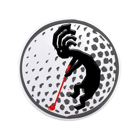 """Kokopelli Golf 3.5"""" Button"""