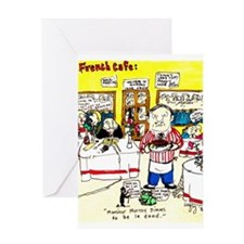 """""""French Cafe"""" - Greeting Card"""