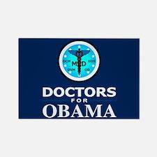 DOCTORS FOR OBAMA Rectangle Magnet