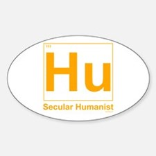 Secular Humanist Oval Decal