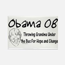 Obama Grandma Under The Bus Rectangle Magnet