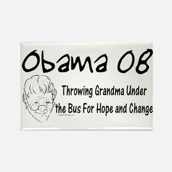 Obama Grandma Under The Bus Rectangle Magnet