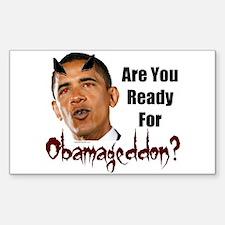 Ready For Obamageddon Rectangle Decal