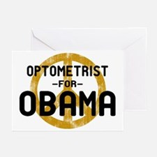 Optometrist for Obama Greeting Cards (Pk of 10)