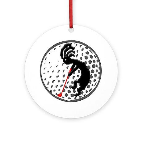 Kokopelli Golf Ornament (Round)