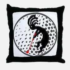 Kokopelli Golf Throw Pillow