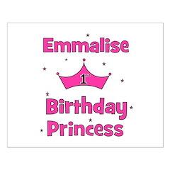1st Birthday Princess Emmalis Posters