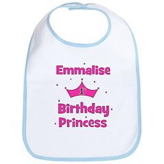 1st Birthday Princess Emmalis Bib