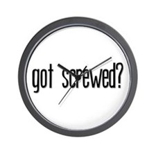 Got Screwed? Wall Clock