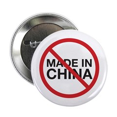 """Not Made in China 2.25"""" Button (100 pack)"""