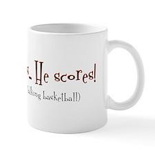 shoot, score Mug