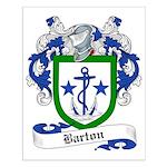 Barton Family Crest Small Poster