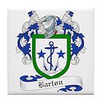 Barton Family Crest Tile Coaster